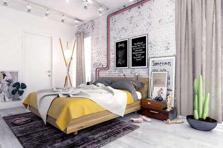Industrial Bedroom - Russia 2014: industrial Bedroom by Ammar Bako design studio