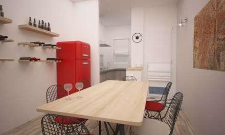 CORSO TORTONA: Cucina in stile in stile Industriale di LAB16 ...