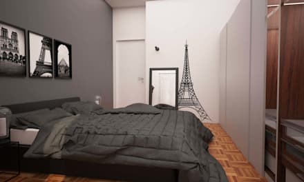 Camera da letto idee immagini e decorazione homify - Letto stile industriale ...