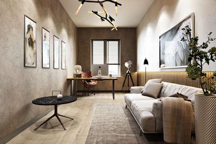 Moderne Arbeitszimmer Von Дарья Баранович Дизайн Интерьера