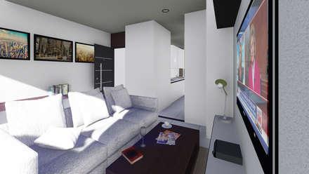 Torre Ángel: Comedores de estilo moderno por Le.tengo Arquitectos