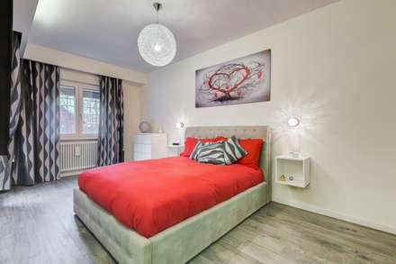 Colleverde_minimal design: Camera da letto in stile in stile Moderno di EF_Archidesign