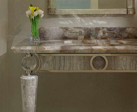 Powder Room Detail: classic Bathroom by Douglas Design Studio