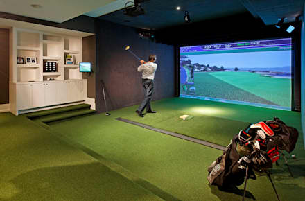 Golf Room: modern Media room by Douglas Design Studio