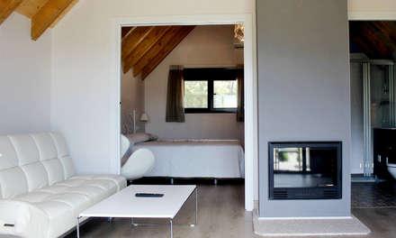Arquitectos Jarandilla de la Vera Fincalacoronilla: Comedores de estilo rural de Estudio Miranda Arquitectos en la Vera