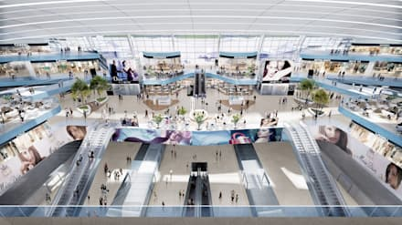 Shenzhen Airport Satellite Concourse, China, by Aedas:  Airports by Aedas