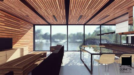 industrial Living room by Cornetta Arquitetura