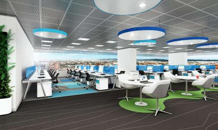 Oficinas Bogotá: Ventanas de estilo  por Arquitectura y Diseño Digital