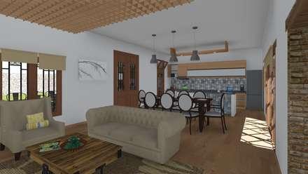 CASA BA: Comedores de estilo rústico por ARBOL Arquitectos
