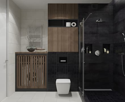 eclectic Bathroom by OM DESIGN