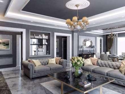 VERO CONCEPT MİMARLIK – Villa Balıkesir: modern tarz Oturma Odası