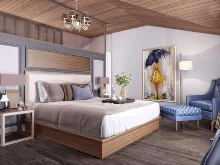 VERO CONCEPT MİMARLIK – Villa Balıkesir: modern tarz Yatak Odası