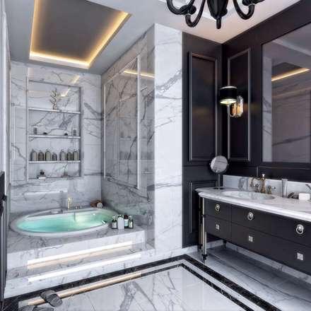 VERO CONCEPT MİMARLIK – Villa Balıkesir: modern tarz Banyo
