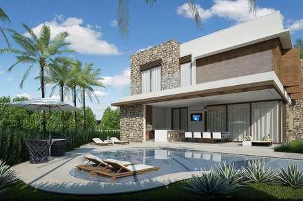 สระว่ายน้ำ by Quitete&Faria Arquitetura e Decoração
