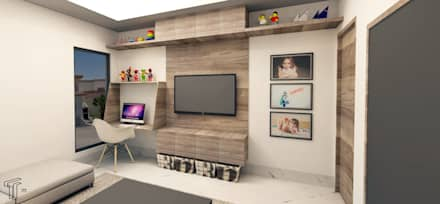modern Media room by TAMEN arquitectura