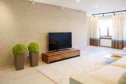 Мягкий минимализм. Гостиная: Гостиная в . Автор – Guzel Gimaeva Interior Design