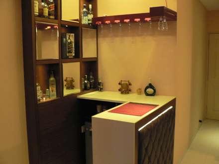 Bar Unit: modern Wine cellar by Nandita Manwani
