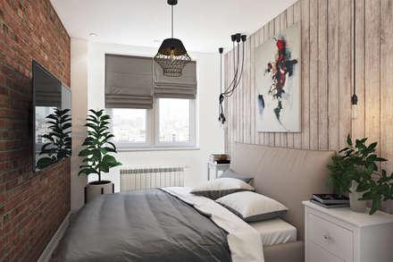 skandinavische Schlafzimmer von Дарья Баранович Дизайн Интерьера