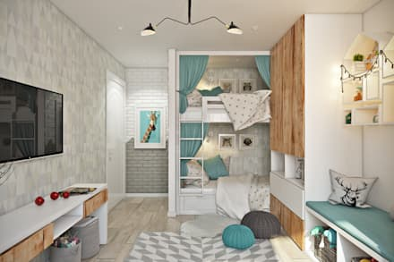 skandinavische kinderzimmer ideen homify. Black Bedroom Furniture Sets. Home Design Ideas
