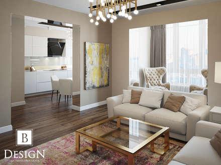 Проект двухуровневой квартиры на Позняках: Гостиная в . Автор – B-design