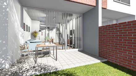 Hillside Gate: modern Garden by Swart & Associates Architects