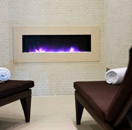 Electric Fires : modern Spa by The Platonic Fireplace Company