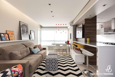 eclectic Living room by Flávia Bastiani Arquitetura