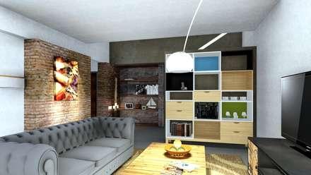 Vivienda JC: Livings de estilo ecléctico por ARBOL Arquitectos