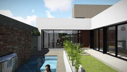 Casa Patio: Jardines de estilo moderno por ARBOL Arquitectos