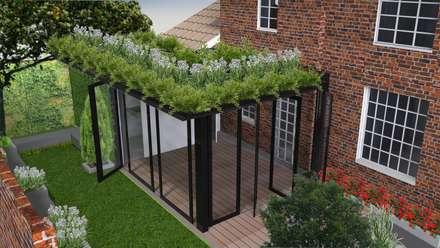 FEDESARROLLO GREEN HOUSE: Jardines de estilo moderno por bdl concept/studio