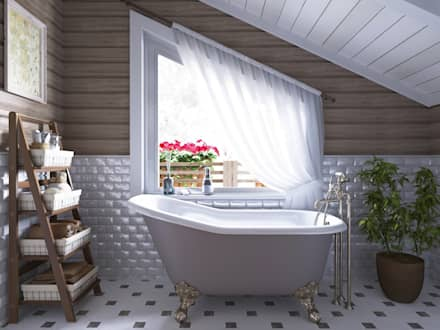 country Bathroom by Open Village