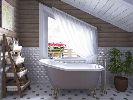 Интерьер ванной: Ванные комнаты в . Автор – Open Village