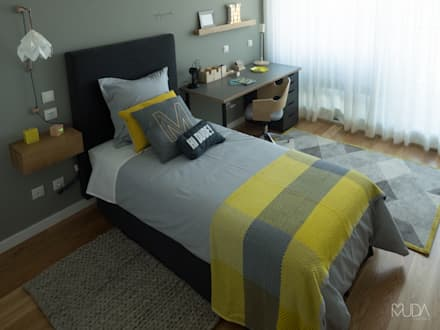 Quarto do Manel | Depois: Quartos modernos por MUDA Home Design