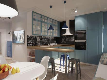 Квартира в скандинавском стиле в ЖК Wellton Park: Кухни в . Автор – AlexLadanova interior design