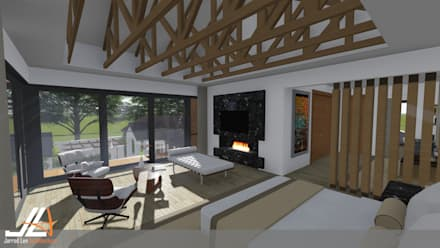 Craighall Park Residence: modern Bedroom by JLA - Jarrod Len Architecture