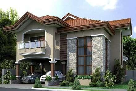 DAYAL Mimarlık - DIŞ CEPHE ÇALIŞMALARI: modern tarz Evler