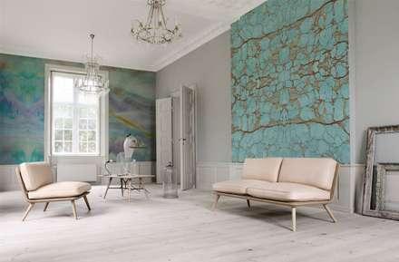 Natural Harmony: scandinavian Living room by Pixers