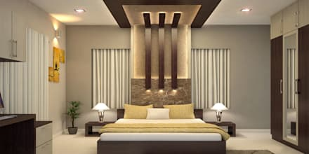 modern bedroom by monnaie architects interiors