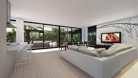 Sala: Salas de estar modernas por Palma
