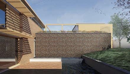 JONKERSHOEK ROAD, STELLENBOSCH: modern Pool by Gallagher Lourens Architects