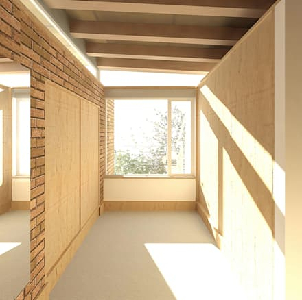 JONKERSHOEK ROAD, STELLENBOSCH: modern Dressing room by Gallagher Lourens Architects