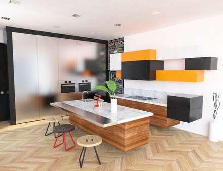 Propuesta interiores.: Cocinas de estilo moderno por Eidética