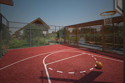 Спортивная площадка: Сады в . Автор – Мастерская ландшафта Дмитрия Бородавкина