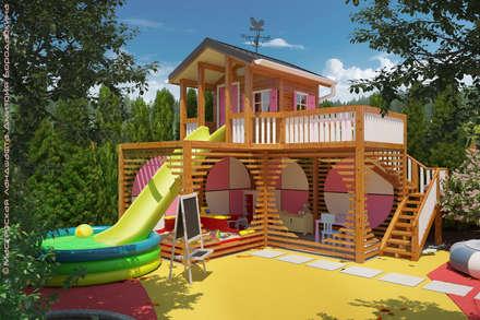 Детская площадка для маленьких девочек: Сады в . Автор – Мастерская ландшафта Дмитрия Бородавкина