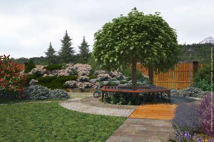 Вид на подъездную дорогу от дома: Сады в . Автор – Мастерская ландшафта Дмитрия Бородавкина
