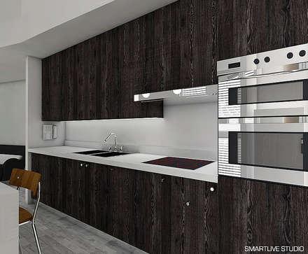 Cocina: Cocinas de estilo minimalista por Smartlive Studio