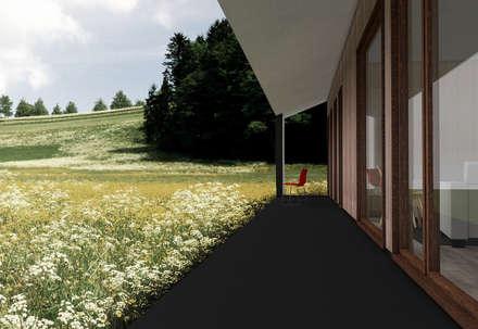 Terraza : Jardines de estilo rural por Smartlive Studio