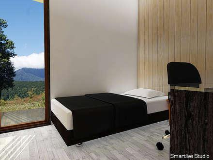 Dormitorio de visitas : Dormitorios infantiles de estilo rural por Smartlive Studio