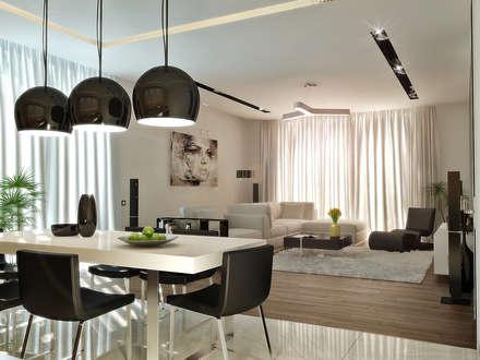 Квартира- студия 72 м/кв: Гостиная в . Автор - metrixdesign
