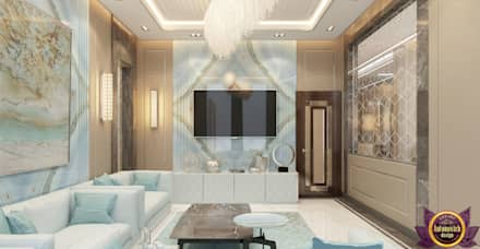 Modern house Design of Katrina Antonovich: modern Living room by Luxury Antonovich Design